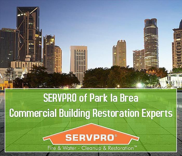 The skyline with the SERVPRO Expert Restoration 24/7 promise.