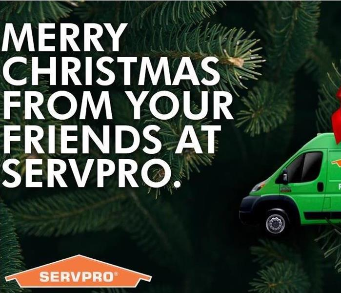 SERVPRO truck and Christmas tree ornament